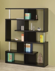Modern Black Finish Bookcase - 800309