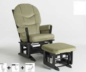 Modern Multiposition and Recliner Glider with Ottoman Combo - Dutailier - C20-84C