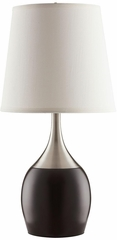 Modern Table Lamp with Color Block Style Base - Set of 2 - 901470