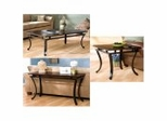 Modesto Coffee Table Set in Espresso - Southern Enterprises