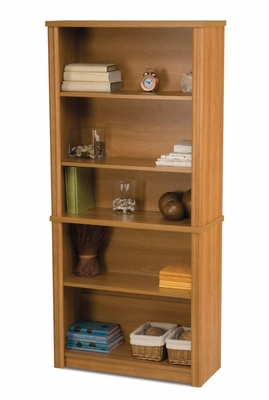 Modular Bookcase in Cappuccino Cherry - Embassy - Bestar Office Furniture - 60700-68