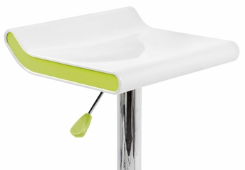 Mojito Barstool White/Green - LumiSource - BS-MOJ-W-GN