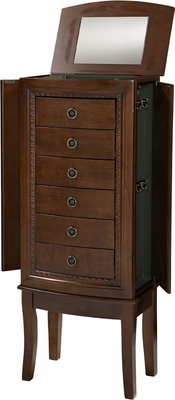 Molly Jewelry Armoire in Espresso - Linon