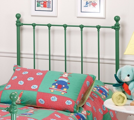 Molly Twin Size Headboard with Frame in Green - Hillsdale Furniture