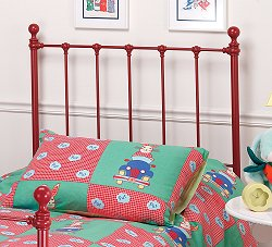 Molly Twin Size Headboard with Frame in Red - Hillsdale Furniture