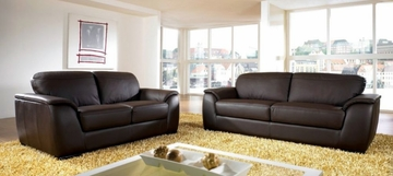 Monaco Leather Sofa and Loveseat - Abbyson Living - FR9550-0810-0820
