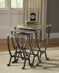 Monaco Nesting Tables in Matte Espresso - Hillsdale Furniture - 4142-888