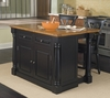 Monarch Kitchen Island in Black / Oak - Home Styles - 5008-94