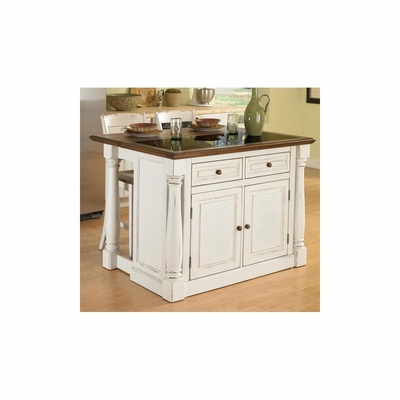Monarch Kitchen Island with Granite Top and 24