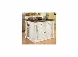 "Monarch Kitchen Island with Granite Top and 24"" Stools - Home Styles - HS-5021-948"