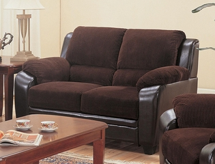 Monika Stationary Loveseat with Wood Feet - 502812