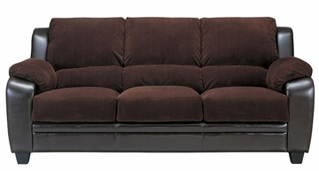 Monika Stationary Sofa with Wood Feet - 502811