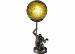 Monkey With Round Ball Accent Lamp - Dale Tiffany
