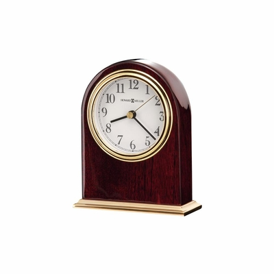 Monroe Arched Table Clock in Rosewood Hall - Howard Miller