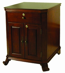 Montague Distressed Walnut End Table Humidor - HUM-MONTCAB
