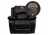 Montana Grizzlies Black Leather Rocker Recliner - MEN-DA3439-91-BK-40018-EMB-GG