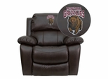 Montana Grizzlies Brown Leather Rocker Recliner - MEN-DA3439-91-BRN-40018-EMB-GG