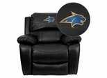 Montana State University Fighting Bobcats Black Leather Recliner - MEN-DA3439-91-BK-40017-EMB-GG