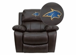 Montana State University Fighting Bobcats Brown Leather Recliner  - MEN-DA3439-91-BRN-40017-EMB-GG