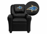 Montana State University Fighting Bobcats Embroidered Black Vinyl Kids Recliner - DG-ULT-KID-BK-40017-EMB-GG