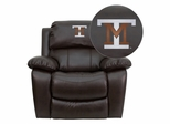 Montana Tech of the University of Montana Orediggers Brown Leather Recliner - MEN-DA3439-91-BRN-41055-EMB-GG
