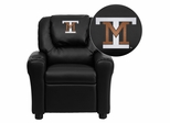 Montana Tech of the University of Montana Orediggers Embroidered Black Vinyl Kids Recliner - DG-ULT-KID-BK-41055-EMB-GG