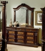 Montecito II Dresser with Mirror in Medium Chestnut - Coaster - 201203-04-SET