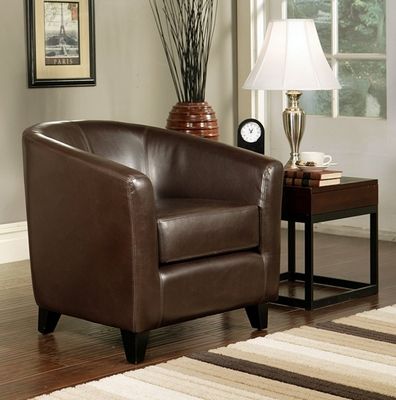 Montecito Leather Armchair in Dark Brown - Abbyson Living - HS-SF-001