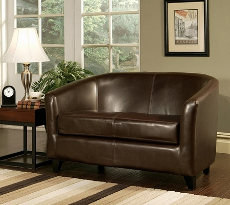 Montecito Leather Loveseat in Dark Brown - Abbyson Living - HS-SF-023