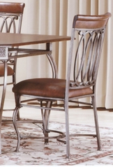 Montello Dining Chairs with Brown Faux Leather (Set of 2) - Hillsdale Furniture - 41543