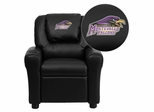 Montevallo Falcons Embroidered Black Vinyl Kids Recliner - DG-ULT-KID-BK-41087-EMB-GG