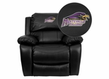 Montevallo Falcons Leather Rocker Recliner - MEN-DA3439-91-BK-41087-EMB-GG