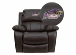 Montevallo Falcons Leather Rocker Recliner - MEN-DA3439-91-BRN-41087-EMB-GG