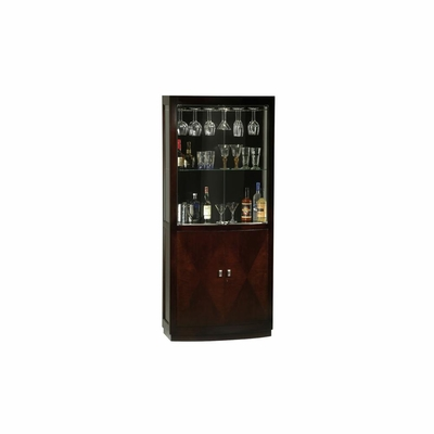 Montgomery Wine and Bar Cabinet in Black Coffee - Howard Miller