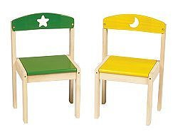 Moon and Stars Chairs - Set of 2 - Guidecraft - G98044
