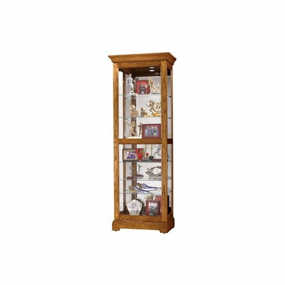 Moorland Display Cabinet in Legacy Oak - Howard Miller