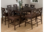 Morgan Espresso 8-Piece Counter Height Table, Bench and Chair Set - 453-60