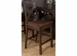 Morgan Espresso X Back Stool w/ Microfiber Seat - Set of 2 - 453-BS451KD