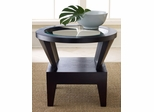 Morgan Round Glass End Table - Abbyson Living - FR7010-0230
