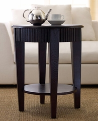 Morgan Round Tea End Table - Abbyson Living - FR7010-0260