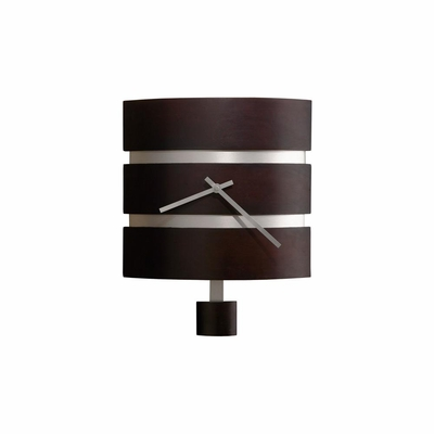 Morrison Contemporary Wall Clock in Black - Howard Miller