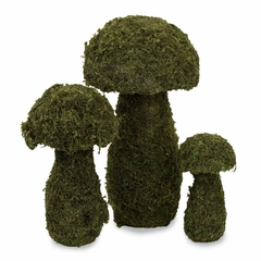 Mossy Mushrooms (Set of 3) - IMAX - 29114-3