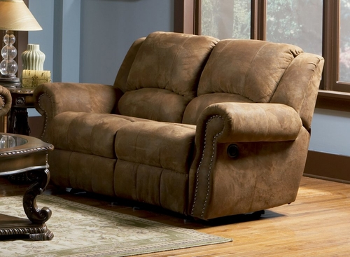Motion Loveseat with Individual Rockers in Medium Brown Distressed - Coaster