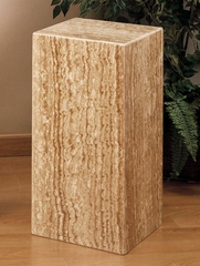 "MP107 24""H Pedestal in Chocolate Travertine - Armen Living - MP1071224CH"