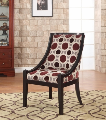 Mulberry and Grey High Back Accent Chair, 20-1/2