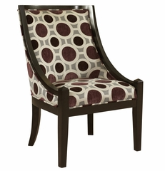 "Mulberry and Grey High Back Accent Chair, 20-1/2"" Seat Height - Powell Furniture - 502-822"