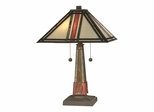 Multi Color Mission Table Lamp - Dale Tiffany