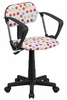 Multi-Colored Dot Printed Computer Chair - BT-D-MUL-A-GG