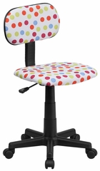 Multi-Colored Dot Printed Computer Chair - BT-D-MUL-GG