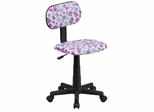 Multi-Colored Flower Printed Computer Chair  - BT-FLWR-GG